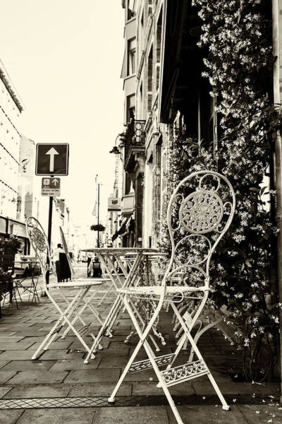 Wall Art - Photograph - Cafe On A Brussels Street by Georgia Fowler