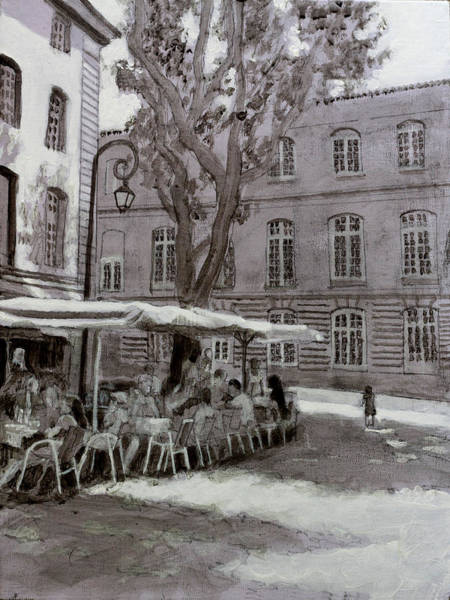 Dining Al Fresco Painting - Cafe Portugese by David Zimmerman
