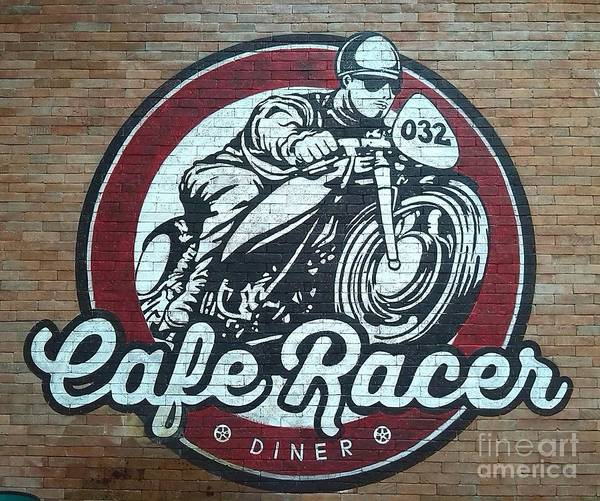 Wall Art - Painting - Cafe Racer At Cafe Racer by Richard John Holden RA