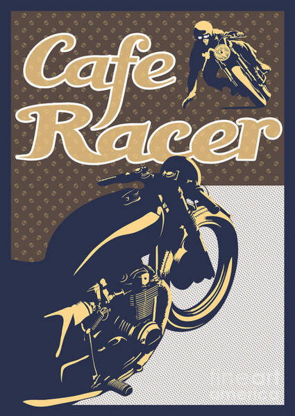 Wall Art - Painting - Cafe Racer by Sassan Filsoof