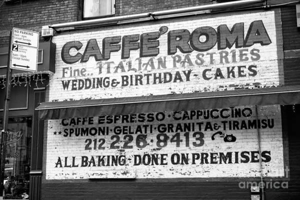 Wall Art - Photograph - Cafe Roma New York City by John Rizzuto