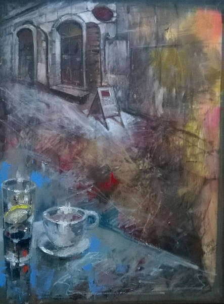 Painting - Cafe Shop Entry by Lorand Sipos