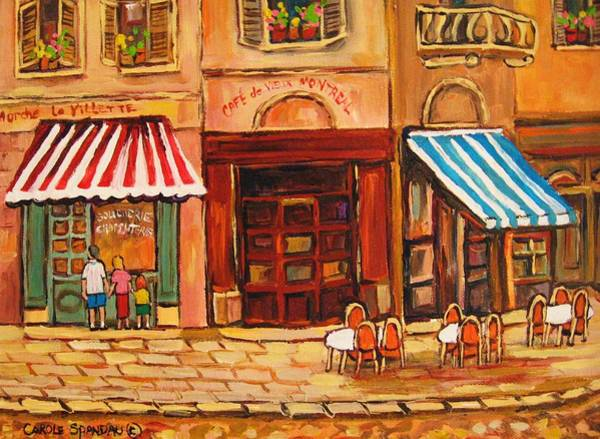 Painting - Cafe Vieux Montreal by Carole Spandau
