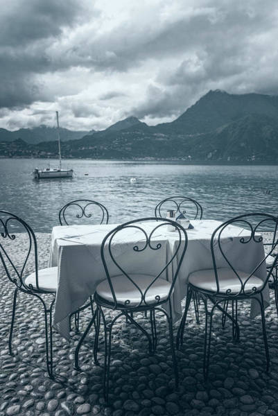 Photograph - Cafe View Of Lake Como Italy Ice Cool by Joan Carroll