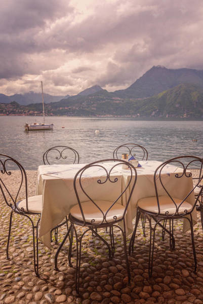 Photograph - Cafe View Of Lake Como Italy by Joan Carroll