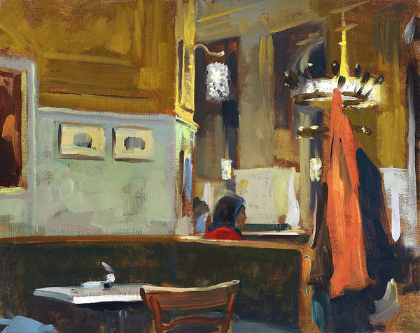 Alla Prima Painting - Cafe Westend by Andrew Judd