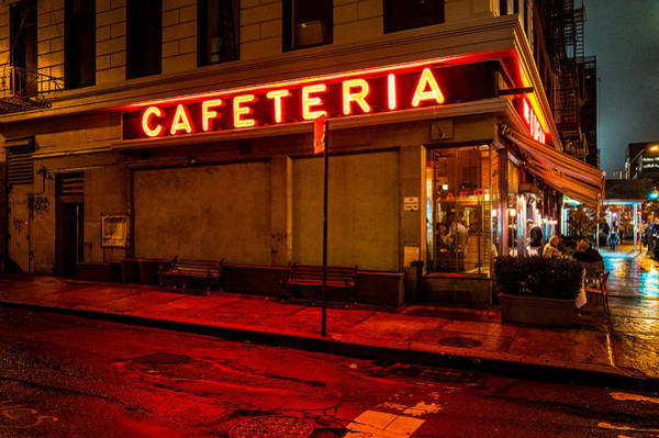 Photograph - Midnight Cafe by M G Whittingham