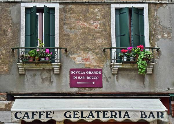 Wall Art - Photograph - Caffe Gelateria Bar by Frozen in Time Fine Art Photography