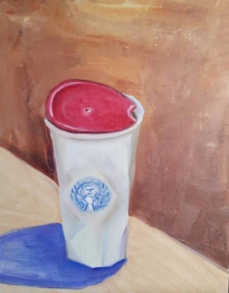 Coffee Painting - Caffe' Latte by Carol Duarte