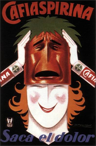 Product Mixed Media - Cafiaspirina - Saca El Dolor - Medinines Poster - Vintage Advertising Poster by Studio Grafiikka