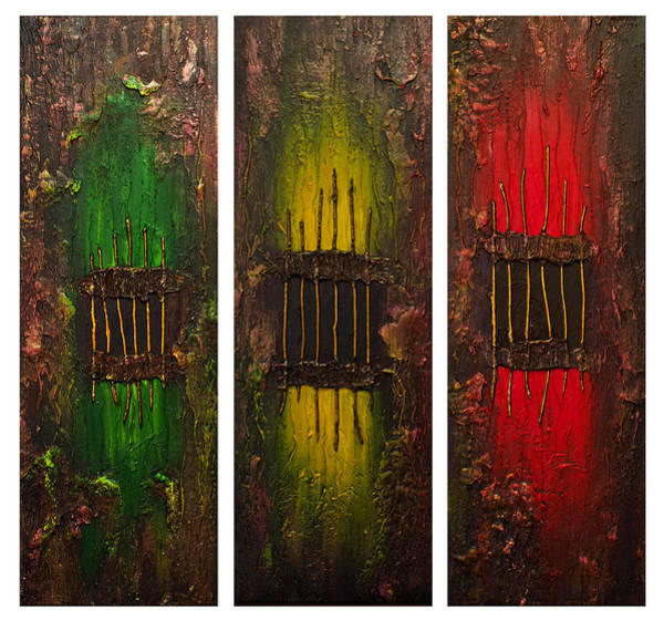 Wall Art - Painting - Caged 2 by Patricia Lintner