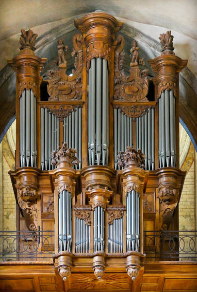 Photograph - Cahors Cathedral Organ by Jenny Setchell
