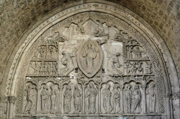 Virtue Photograph - Cahors Cathedral Tympanum Facade Nord by RicardMN Photography