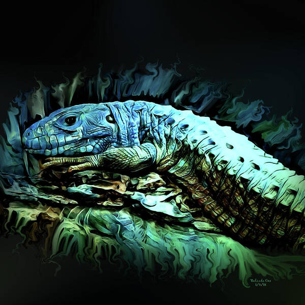 Digital Art - Caiman Lizard  by Artful Oasis