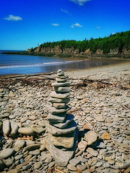 Photograph - Cairn In Eastern Canada by Mary Capriole
