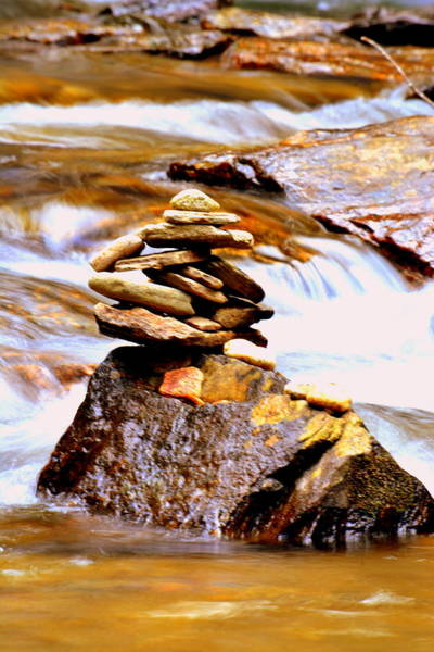 Photograph - Cairn by Lisa Wooten