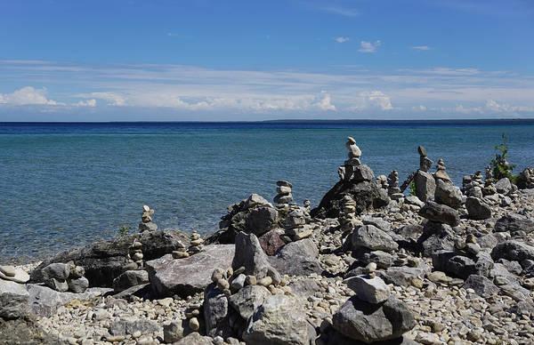 Photograph - Cairn On Mackinac Island by Rachel Cohen