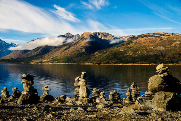Photograph - Cairns At Jackson Lake by TL  Mair