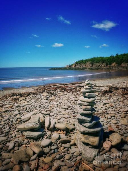 Photograph - Cairns In New Brunswick, Canada  by Mary Capriole
