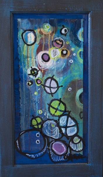 Painting - Cairns, Stones And Stars, Abstract 7 by Laurie Maves ART