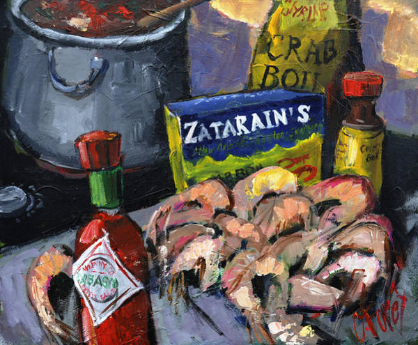 Crab Painting - Cajun Boil by Carole Foret