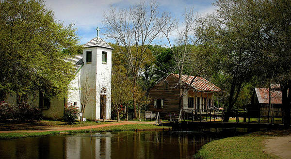 Alligator Alley Photograph - Cajun Village by Angie Covey