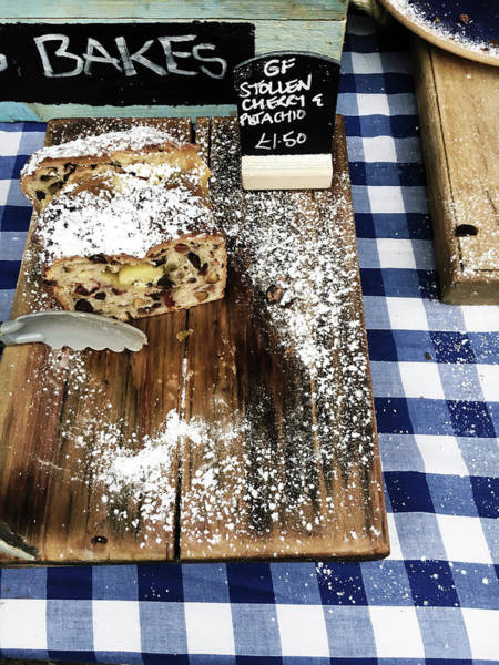 Delicatessen Photograph - Cake Stall At A Market by Tom Gowanlock