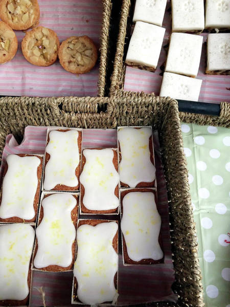 Delicatessen Photograph - Cakes At The Market by Tom Gowanlock