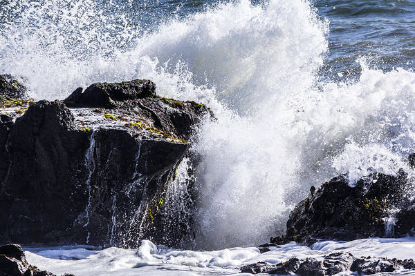 Photograph - California Coast Wave Crash 6 by Randy Bayne