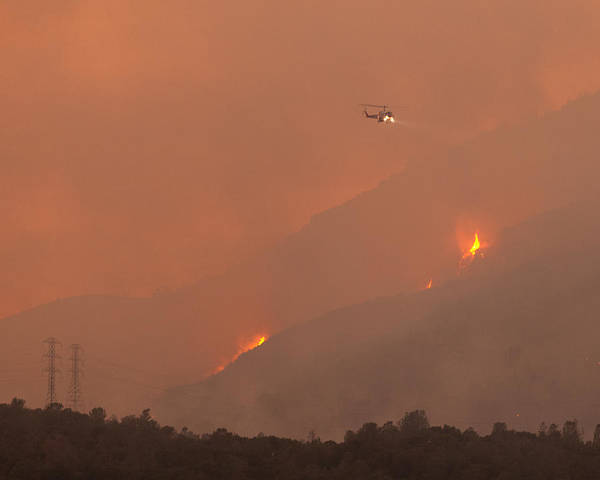 United States Territory Photograph - Cal Fire Copter 406 Curry Canyon Ca by Troy Montemayor