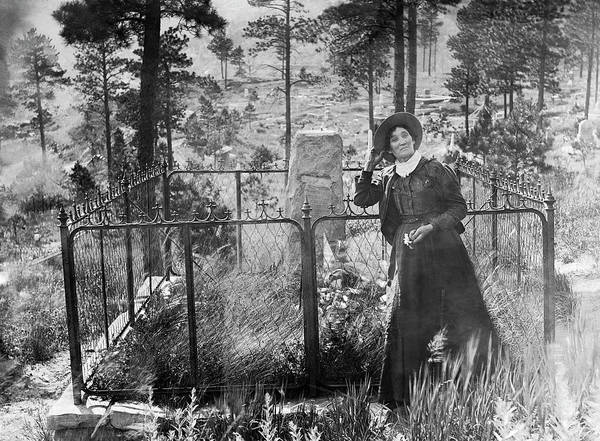 Wall Art - Photograph - Calamity Jane At Wild Bill Hickok's Grave 1903 by Daniel Hagerman