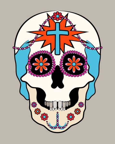 Digital Art - Calavera Graphic by MM Anderson