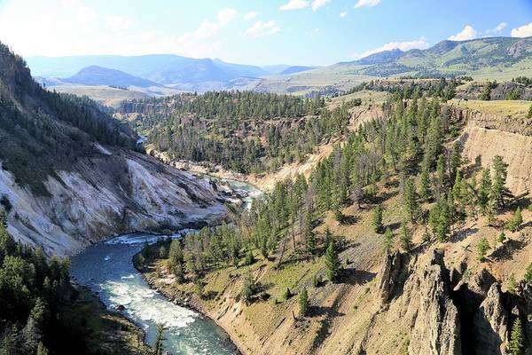 Calcite Springs Along The Bank Of The Yellowstone River Art Print