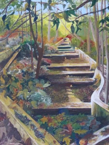 Ancient Woodland Painting - Caldas De Monchique Waterway by Barbara Ebeling