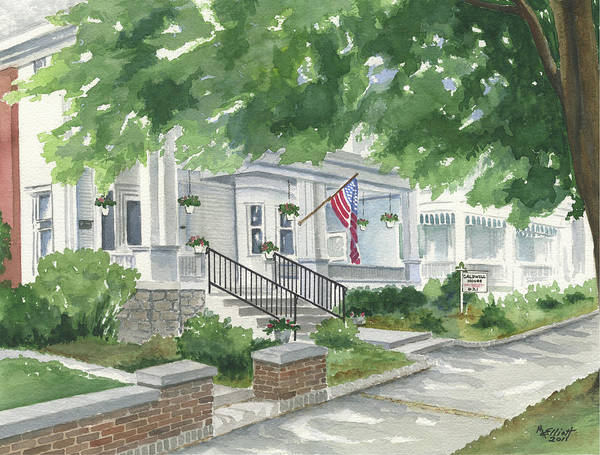 Guest Painting - Caldwell House Bed And Breakfast by Marsha Elliott
