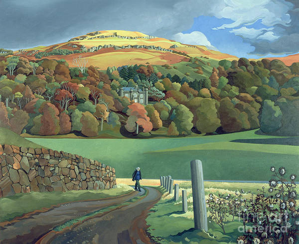 Stroll Painting - Calgary House - Isle Of Mull  by Anna Teasdale