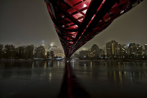 Alberta Wall Art - Photograph - Calgary Peace Bridge by Helder Martins