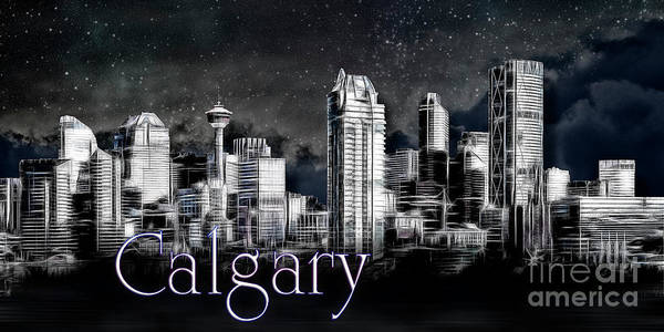 Photograph - Calgary Skyline Art by Brad Allen Fine Art