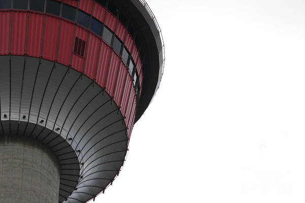 Photograph - Calgary Tower Close Up by Wilko Van de Kamp