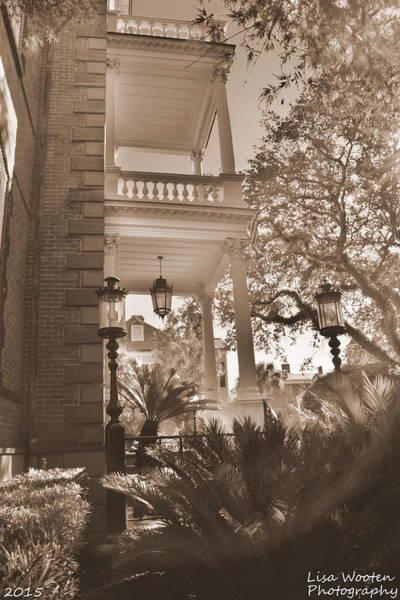Photograph - Calhoun Mansion Charleston S C Sepia by Lisa Wooten