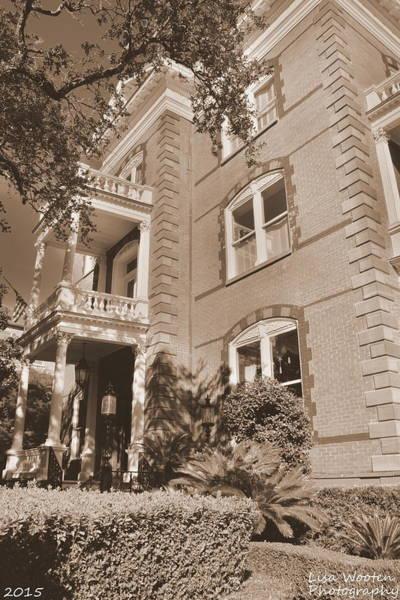 Photograph - Calhoun Mansion Charleston Sc Sepia by Lisa Wooten