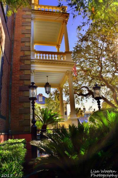 Photograph - Calhoun Mansion Sideyard by Lisa Wooten