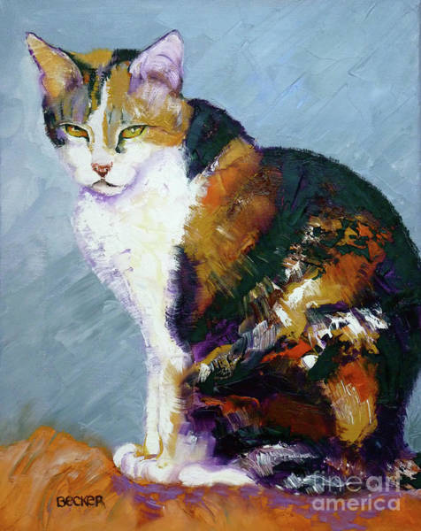 Calico Cat Painting - Calico Buddy by Susan A Becker