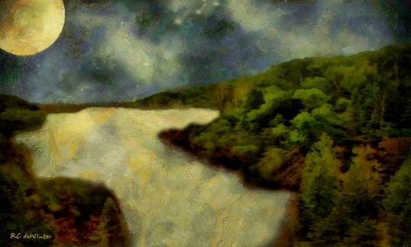 Painting - Calico Moon by RC DeWinter