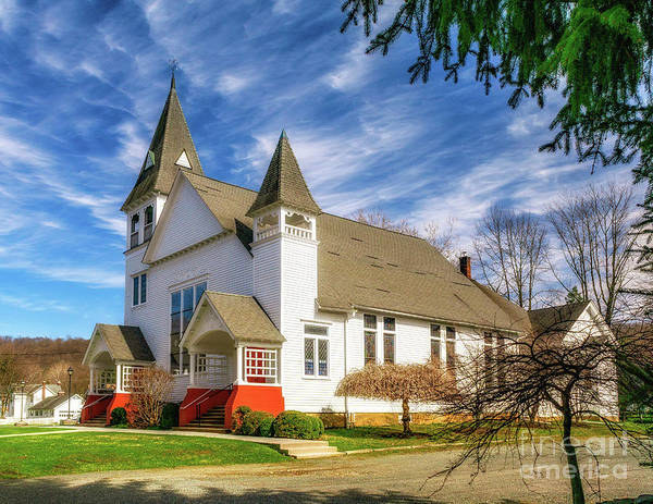 Photograph - Califon Methodist Church by Nick Zelinsky