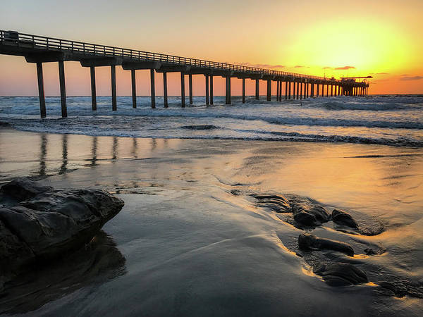 Scripps Pier Photograph - Californa Dreaming by Trice Jacobs