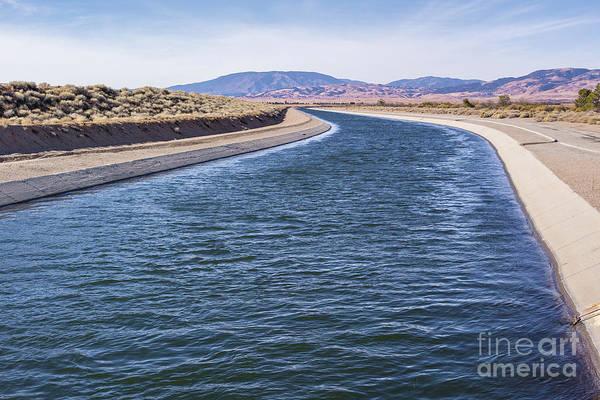 California Aqueduct S Curves Art Print