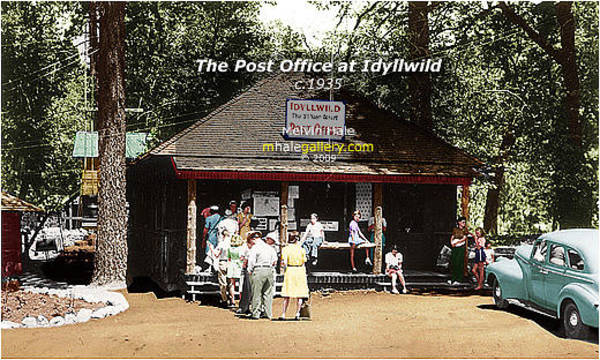 Wall Art - Painting - California Art Entitled The Post Office At Idyllwild Circa 1935 by Melvin Hale
