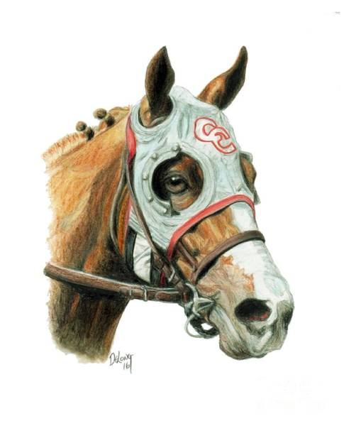 Thoroughbred Racing Wall Art - Painting - California Chrome  2016 by Pat DeLong