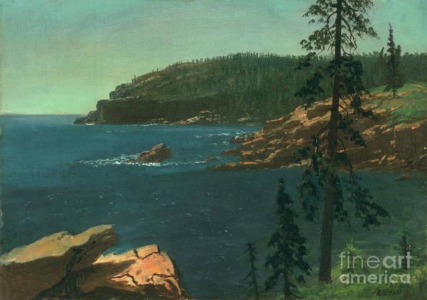 Wall Art - Painting - California Coast by Albert Bierstadt